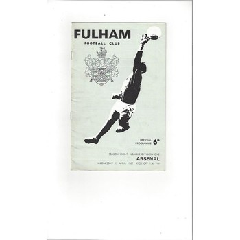 Fulham Home Football Programmes