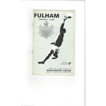 Fulham v Manchester United 1966/67
