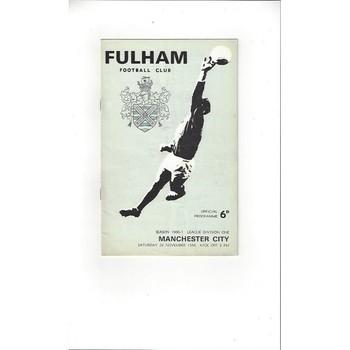 Fulham v Manchester City 1966/67