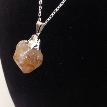 Citrine Rough Point Pendant