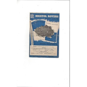 1953/54 Bristol Rovers v Birmingham City Football Programme