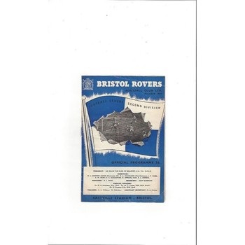 1953/54 Bristol Rovers v Stoke City Football Programme