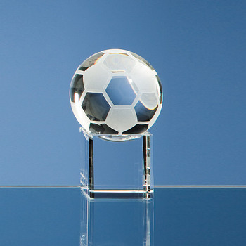 5cm Optical Crystal Football on Clear Base