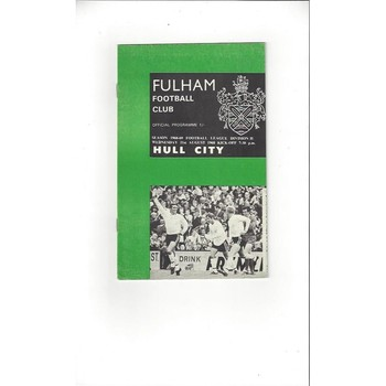Fulham v Hull City 1968/69