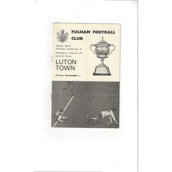 Luton Town Away Football Programmes