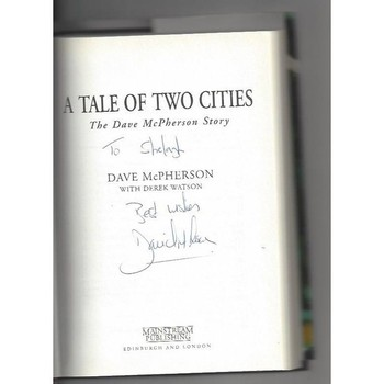 A tail of two Cities Hardback 1996 Football Book - Autographed by Author