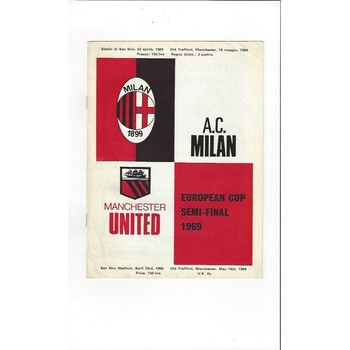 AC Milan v Manchester United European Cup Semi Final 1968/69