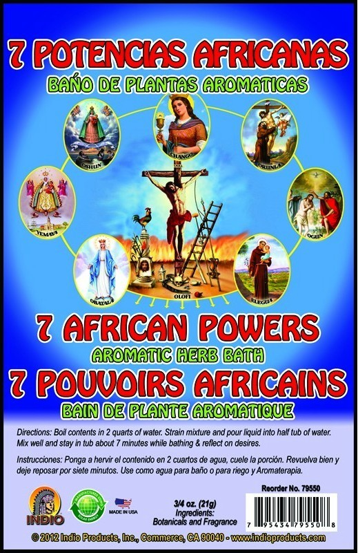 7 African Powers Bath Herbs Envelope | UK Powerfulhand com