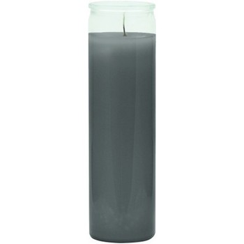 Grey Glass Candle