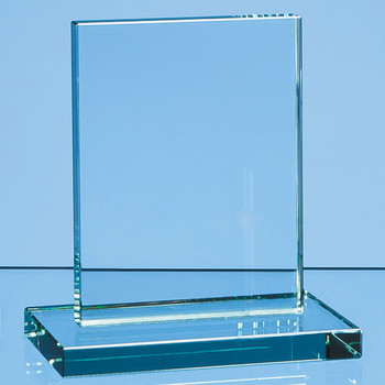 Jade Glass Rectangle Award (12cm x 9cm x 12mm)