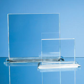 9cm x 12cm x 12mm Clear Glass Horizontal Rectangle Award