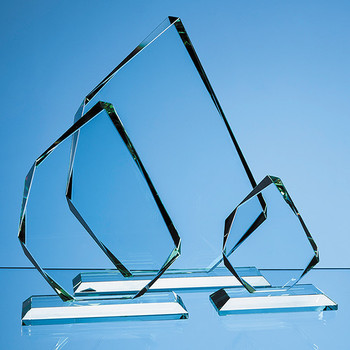 Jade Glass Facetted Ice Peak Award (11.5cm x 15mm)
