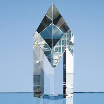 Optical Crystal Sloping Diamond (12.5cm)