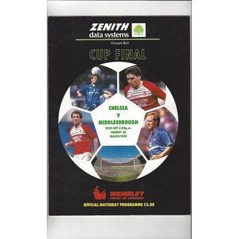 Chelsea v Middlesbrough Zenith Data Cup Final 1990