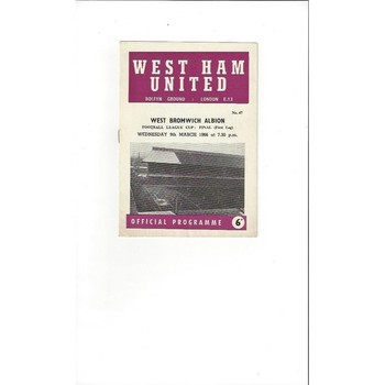 West Ham United v West Bromwich Albion League Cup Final 1966
