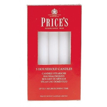 White Household Candles 5 Pack