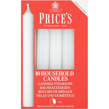 White Household Candles 10 Pack