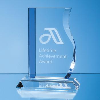 Optical Crystal Blueline Wave Award (17.5cm)