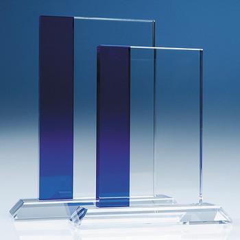 Optical Crystal Blueline Rectangle (19cm)