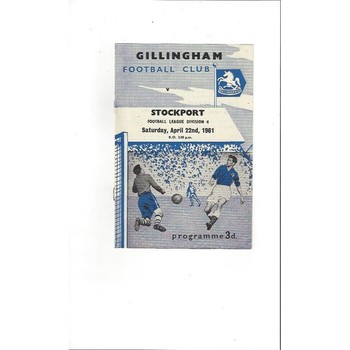 1960/61 Gillingham v Stockport County Football Programme