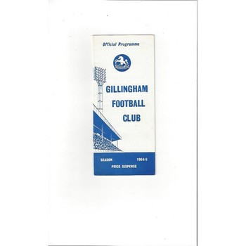 1964/65 Gillingham v Scunthorpe United Football Programme