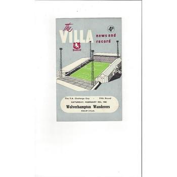 Aston Villa v Wolves FA Cup 1964/65