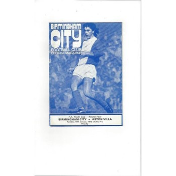 Birmingham City v Aston Villa Youth Cup 1971/72