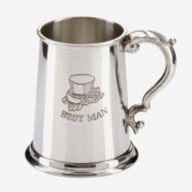 PEWTER BEST MAN TANKARD