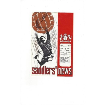 Walsall v St Albans City FA Cup Replay 1968/69
