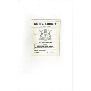 Notts County v Chelmsford City FA Cup 1964/65