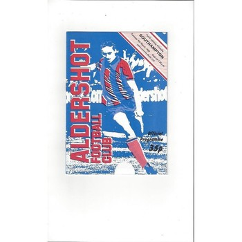 Aldershot v Southampton Friendly 1982/83