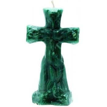 Green Crucifix Altar Ritual Candle