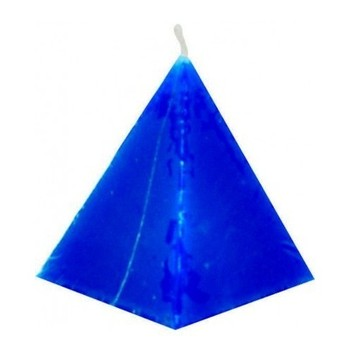 Blue Pyramid Candle