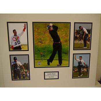 Justin Rose Hand Signed Montage