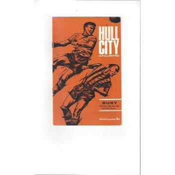 Hull City v Bury 1966/67