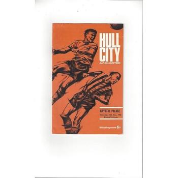 Hull City v Crystal Palace 1966/67