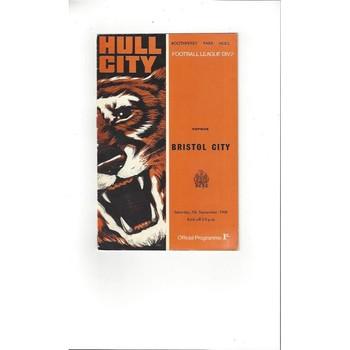Hull City v Bristol City 1968/69
