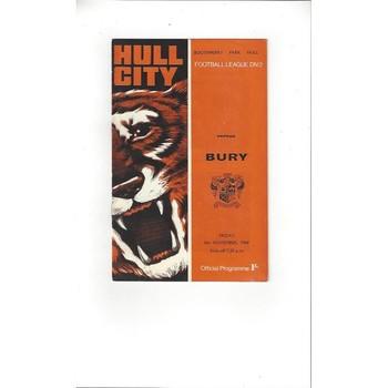Hull City v Bury 1968/69
