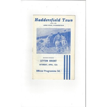 1960/61 Huddersfield Town v Leyton Orient Football Programme