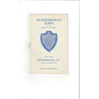 1963/64 Huddersfield Town v Rotherham United Football Programme