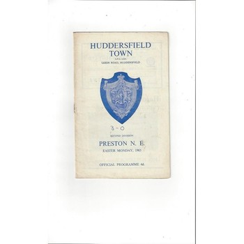 1964/65 Huddersfield Town v Preston Football Programme