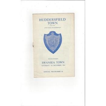 Huddersfield Town v Swansea 1964/65