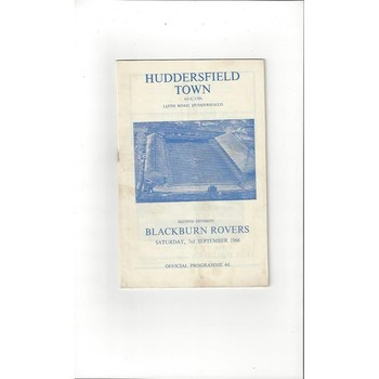 1966/67 Huddersfield Town v Blackburn Rovers Football Programme + League Review