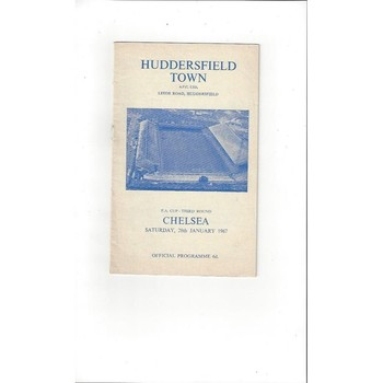 1966/67 Huddersfield Town v Chelsea FA Cup Football Programme + League Review