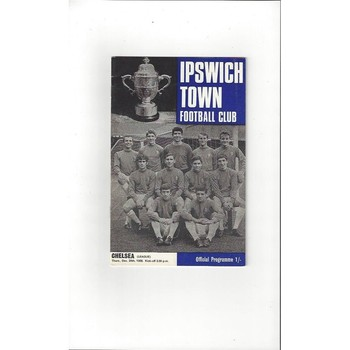 1968/69 Ipswich Town v Chelsea Football Programme + League Review