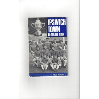1968/69 Ipswich Town v Queens Park Rangers + League Review Football Programme