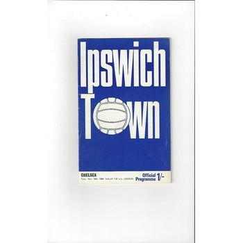 1969/70 Ipswich Town v Chelsea Football Programme + League Review