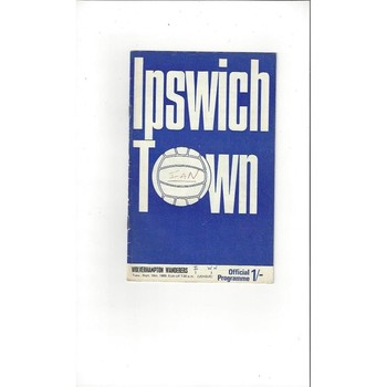 1969/70 Ipswich Town v Wolves Football Programme