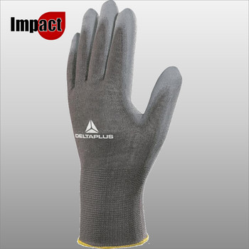 VE702PG POLYESTER KNITTED GLOVE / PU PALM