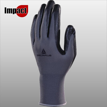 VE722 POLYESTER KNITTED GLOVE - NITRILE FOAM PALM